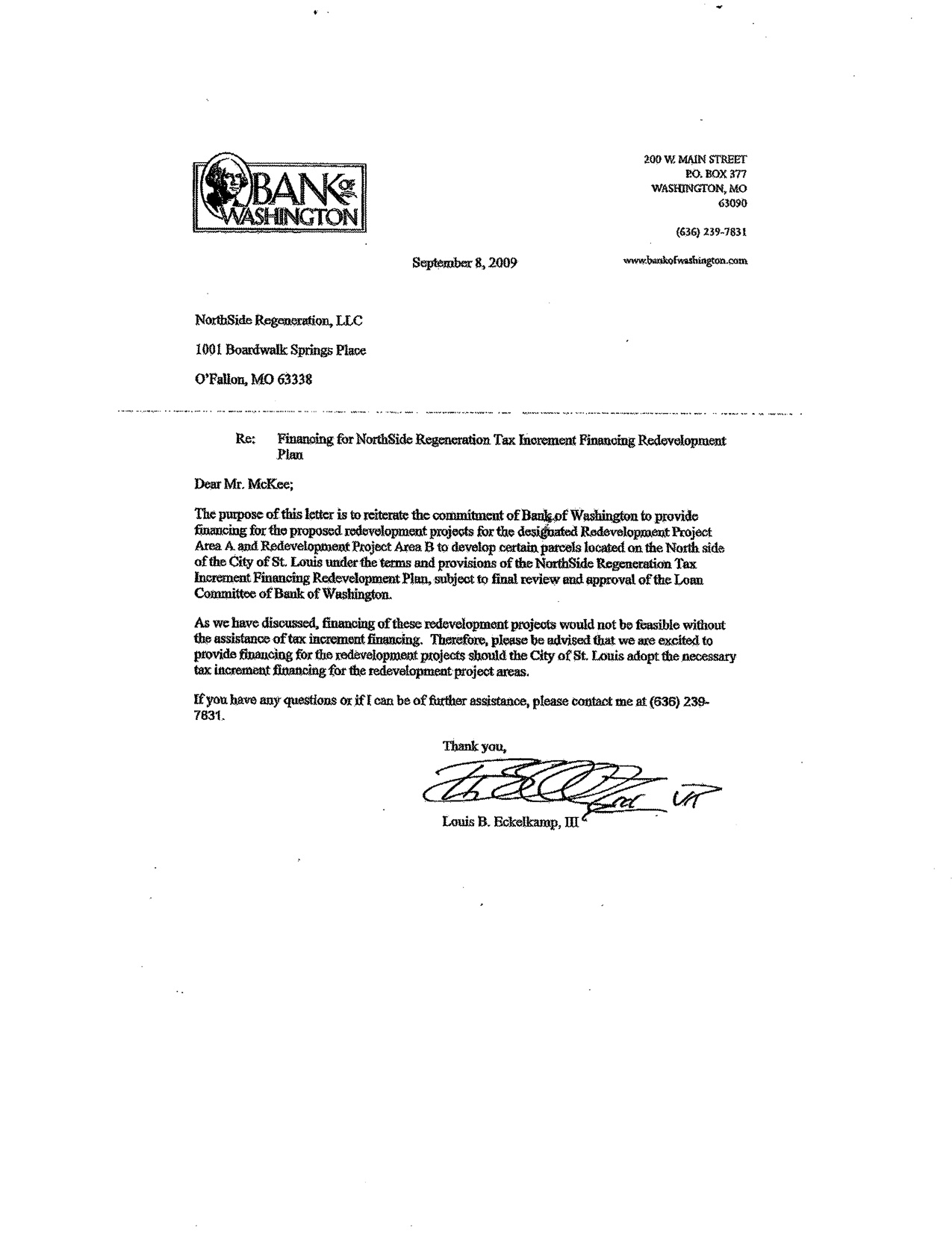 Letter Of Financial Backing Template
